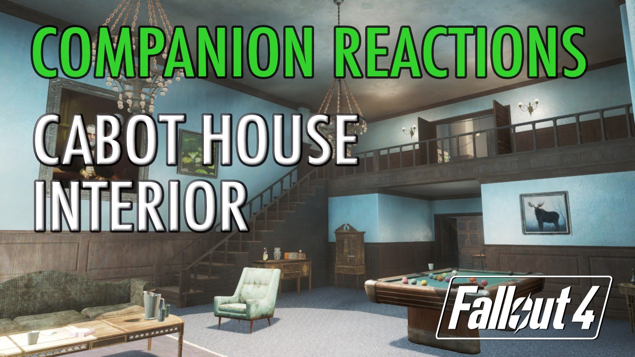 Companion Reactions, Cabot House Interiour   Fallout 4   YouTube