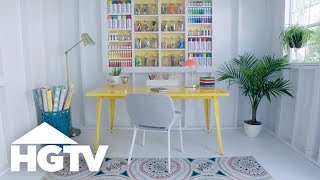 Turn a Shed Into a Craft Space - HGTV