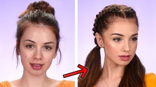 AFFORDABLE Back To School Makeup & Hair Tutorial