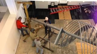 Metro Construction - Spiral Stair Installation
