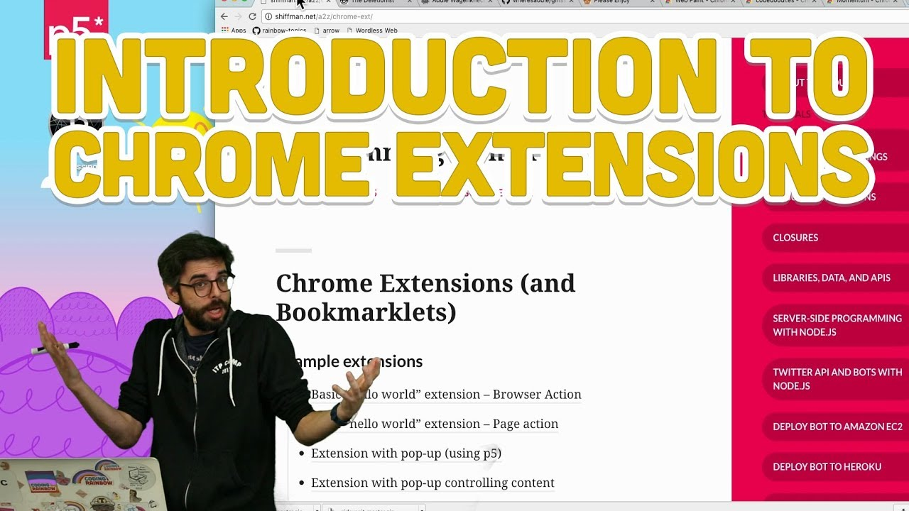 Chrome Extensions | Daniel Shiffman
