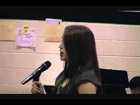 Tara Grenade Ft Zumwalt South Middle School 2012 Talent Show (Grenade)