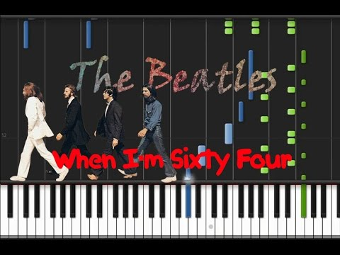 The Beatles When Im Sixty Four Synthesia Tutorial Youtube
