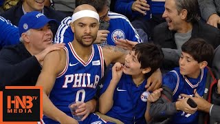 Jerryd Bayless Flew To The Stands / Lakers vs Sixers