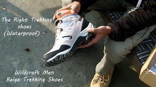 The Right Trekking shoes (Waterproof) - Wildcraft Men Beige Trekking Shoes