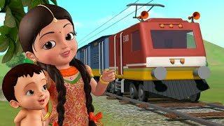 సంతోషకరమైన రైలు ప్రయాణం - Train Song | Telugu Rhymes for Children | Infobells