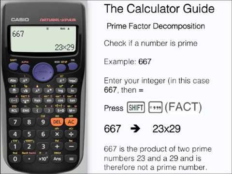 Prime Factors Show A Number Is Prime Prime Factorization Casio