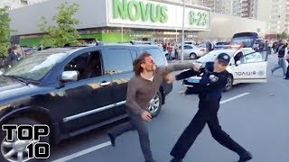 Top 10 People Freaking Out At Police Officers