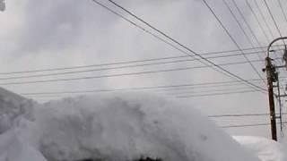 大雪で大変な八幡平市