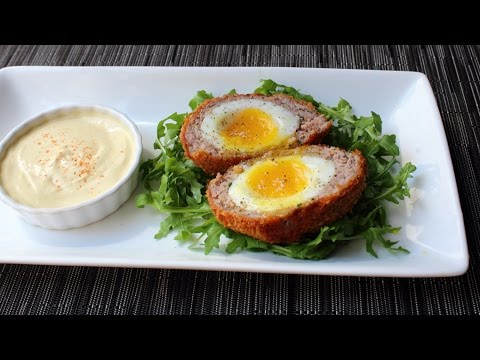 Scotch Eggs -  Crispy Sausage-Wrapped Soft Cooked Egg - How to Make Scotch Eggs
