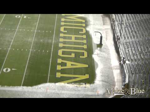 Flooded Michigan Stadium