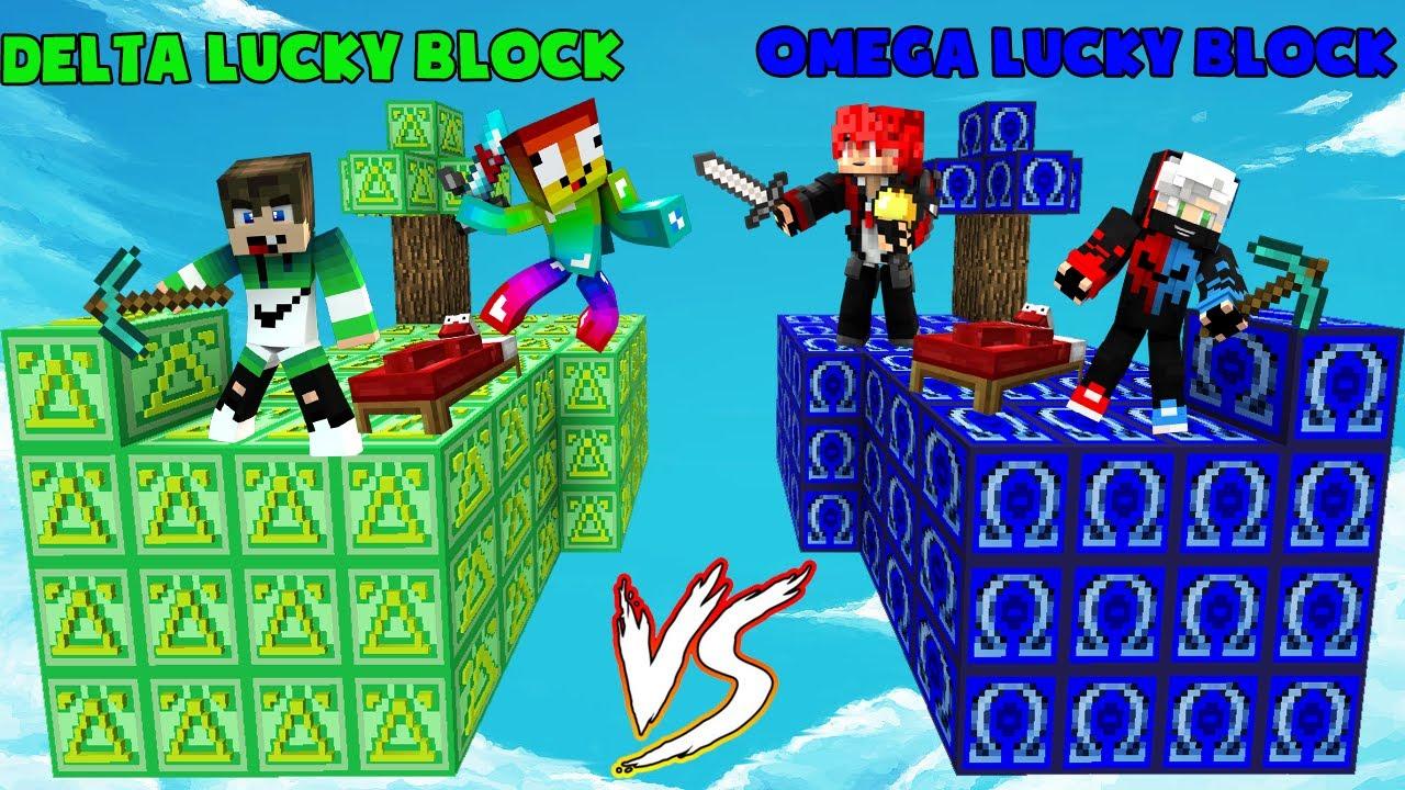 MINI GAME : DELTA VS OMEGA LUCKY BLOCK BEDWARS ** THỬ THÁCH T GAMING SINH TỒN TRÊN ĐẢO LUCKY BLOCK ?