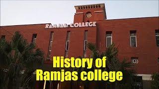 History in Ramjas college ,university of Delhi