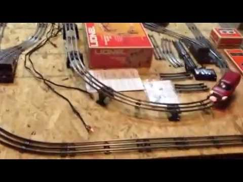auction lionel working o x two track layout  auction lionel working o 27 4 x 8 two track layout 8 lionel remote control switches