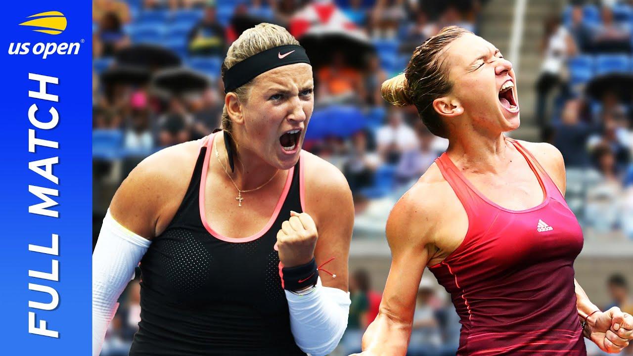 Victoria Azarenka vs Simona Halep in a three-set thriller!   US Open 2015 Quarterfinal
