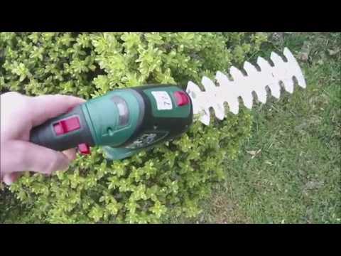 PARKSIDE 4V Cordless Portable Garden Grass /& Hedge Trimmer Edges Shrubs /& Hedges