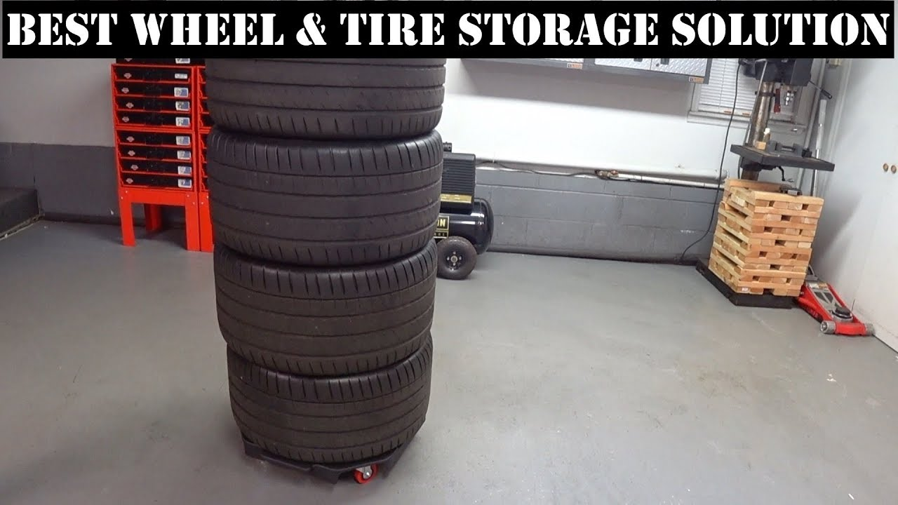 how to store car tires on rims