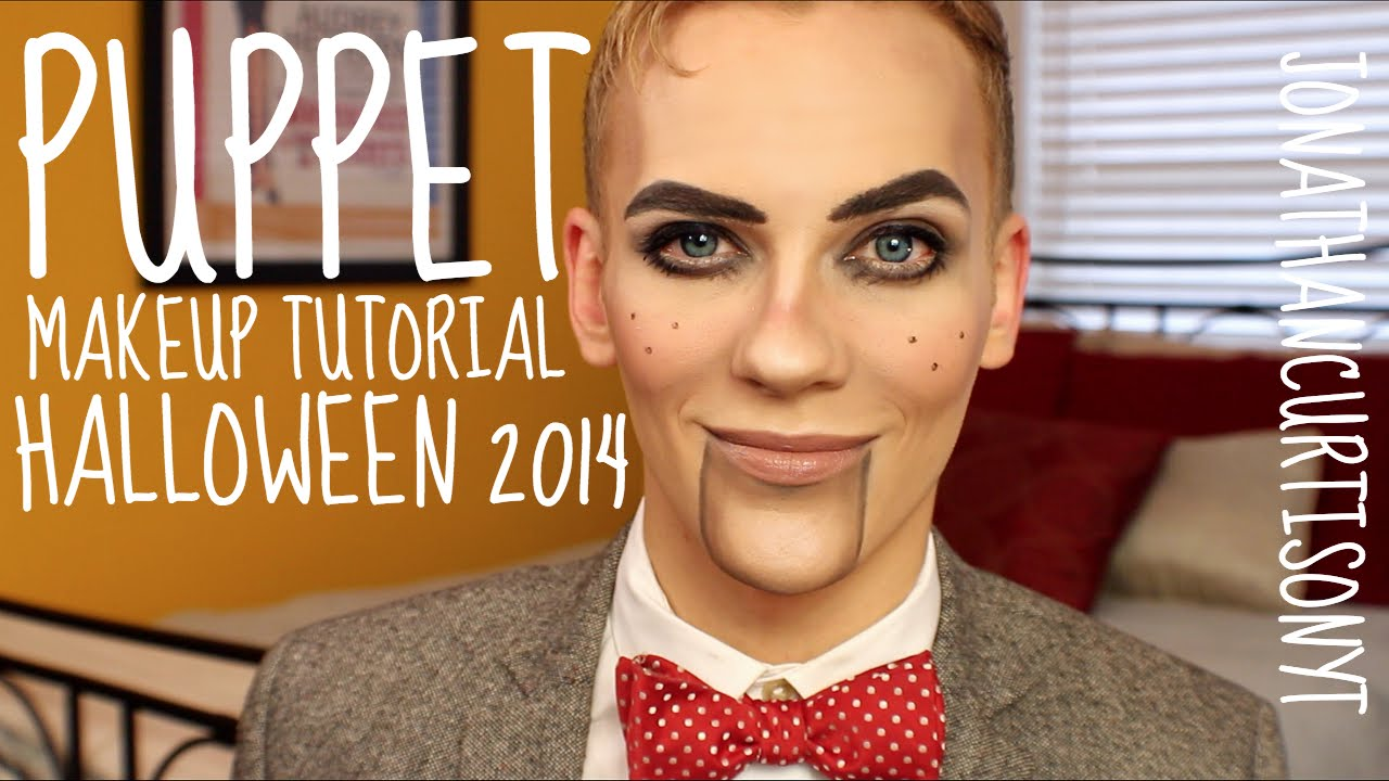 Puppet Makeup Tutorial Halloween :: JonathanCurtisOnYT - YouTube