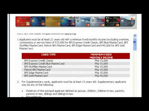 How to Apply for BPI Credit Card Online