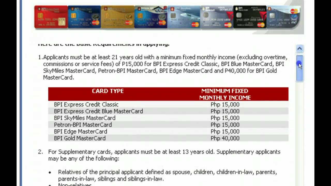 bpi credit card application form | Poemview.co