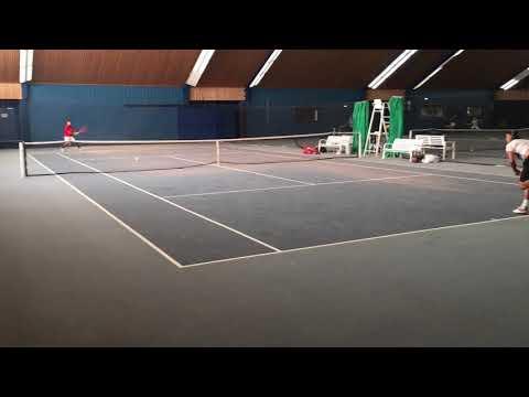 Michael Mmoh Und Ruben Bemelmans Training At Tennis-University