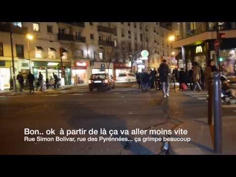 Velotaf de nuit à Paris Lelouch style