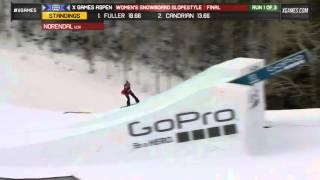Silje Norendal Run 1 Women's Snowboard Slopestyle run 1