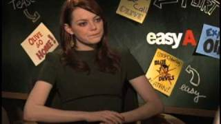 Emma Stone's gotta pocket full of sunshine as she talks about Easy A
