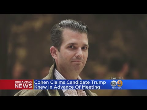 Cohen: Trump Knew In Advance Of 2016 Trump Tower Meeting With Russian Lawyer