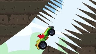 Angry Birds Cross Country - UNLOCK GREEN CAR! RED RACING THROUGH SPIKE ALL LEVELS!