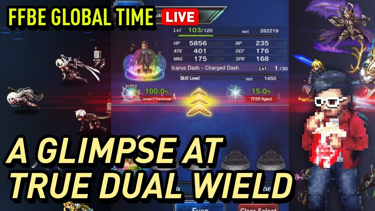 Ffbe Adam Jensen 7 Star Stmr Checking Out Tdw Builds Youtube