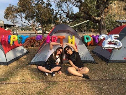 Camping and Celebrating 25th Birthday at Cockatoo Island Sydney