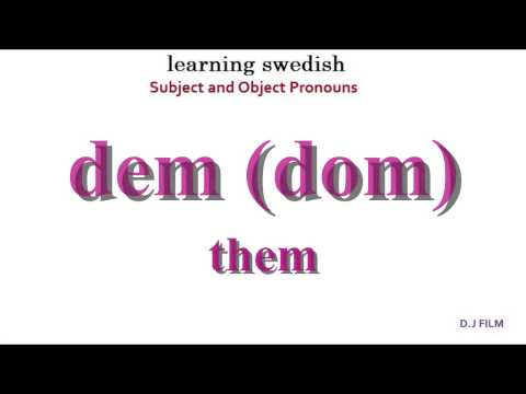 """Learning Swedish (Lesson 3) """"Subject and Object Pronouns"""""""