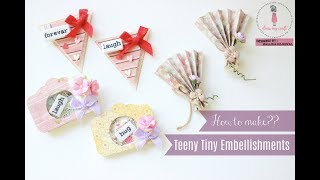 How to make teeny tiny embellishments | Dress My Craft | Aola DIY
