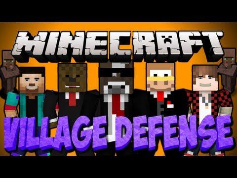 Minecraft NEW EPIC VILLAGE DEFENSE Minigame Server