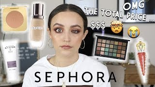 FULL FACE OF THE MOST EXPENSIVE MAKEUP AT SEPHORA $$$