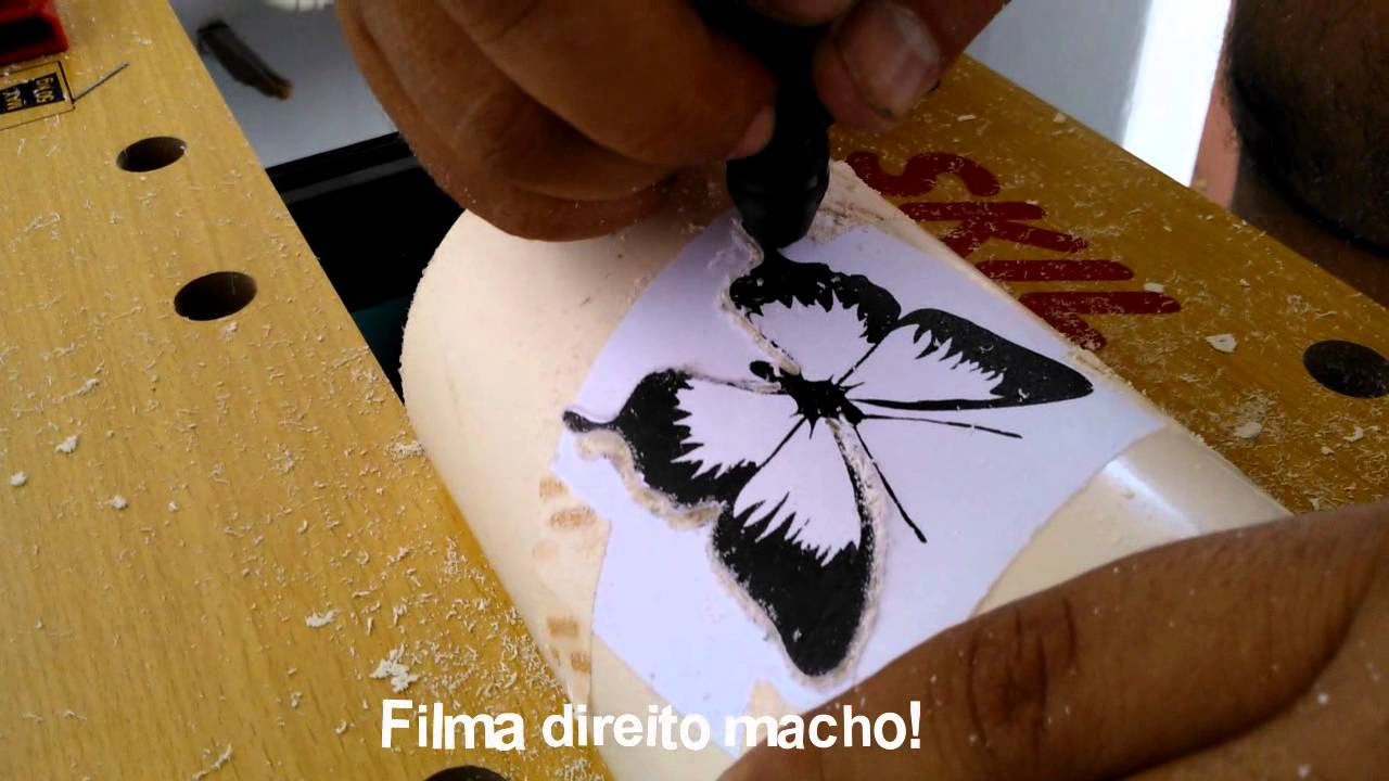 Lustre Artesanal ~ LUMINÁRIA EM CANO DE PVC BORBOLETA E FLORAL RECICLIART CEARÁ YouTube