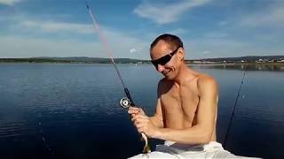 Озеро Арахлей. Ловля окуня на бортовую удочку