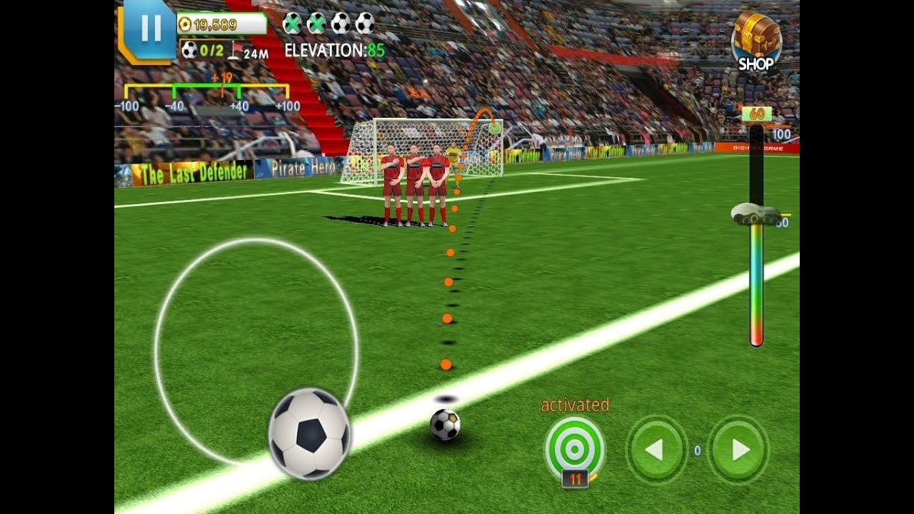 free kick soccer world champion android gameplay hd youtube