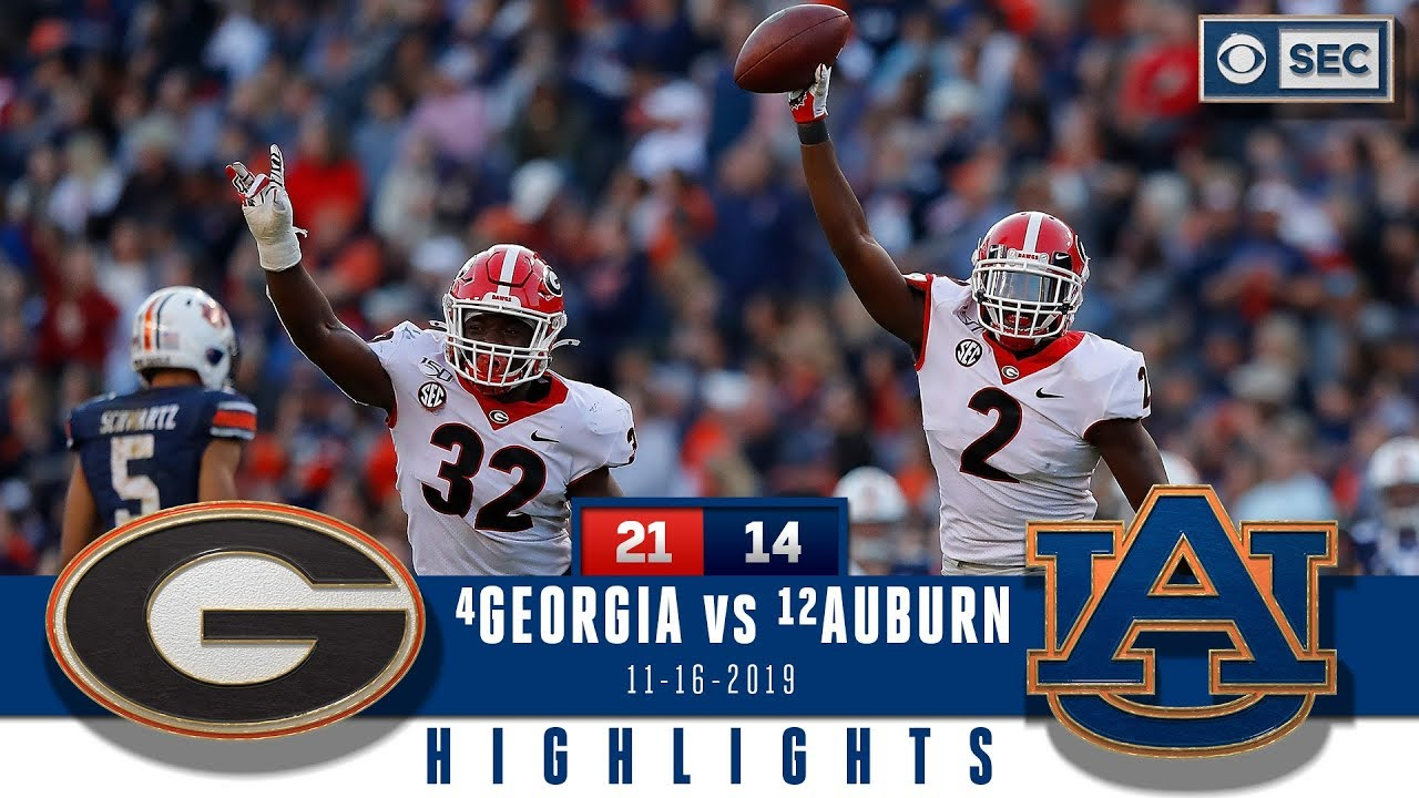 Georgia Vs Auburn Highlights Dawgs Holds Off Late Rally Clinch Sec East Title Cbs Sports Youtube