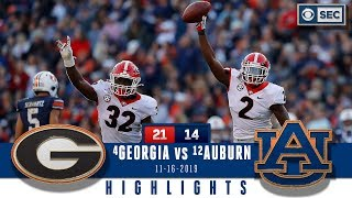 Georgia vs. Auburn Highlights: Dawgs holds off late rally, clinch SEC East title | CBS Sports