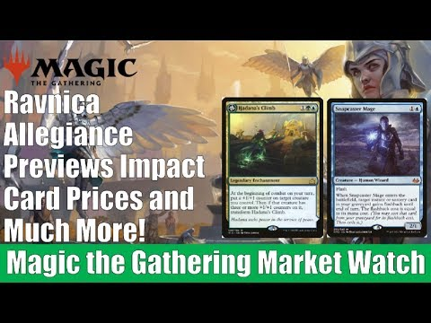 MTG Market Watch: Ravnica Allegiance Previews Impact the Market and Much More