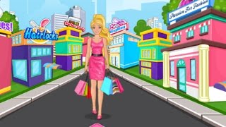 Barbie Games to Play - Barbie Shopping Day - Barbie Shopping and Dress Up Game for Kids