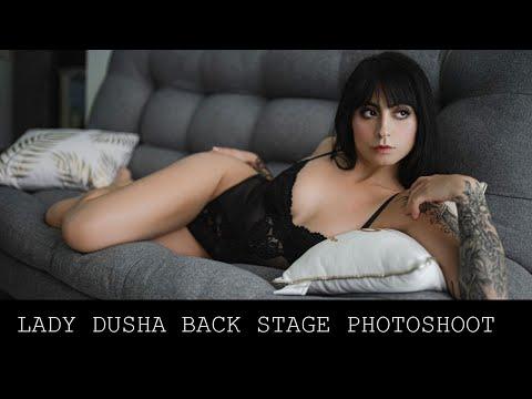 Lady Dusha Lingerie Photoshoot Back Stage