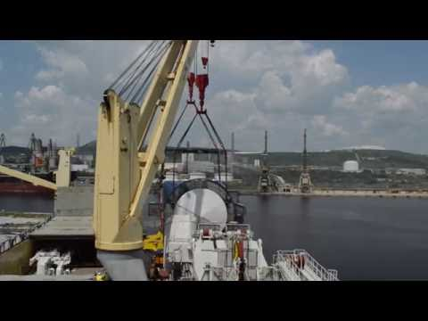 Shipment of 900 Tons Huisman Offshore Pedestal Crane