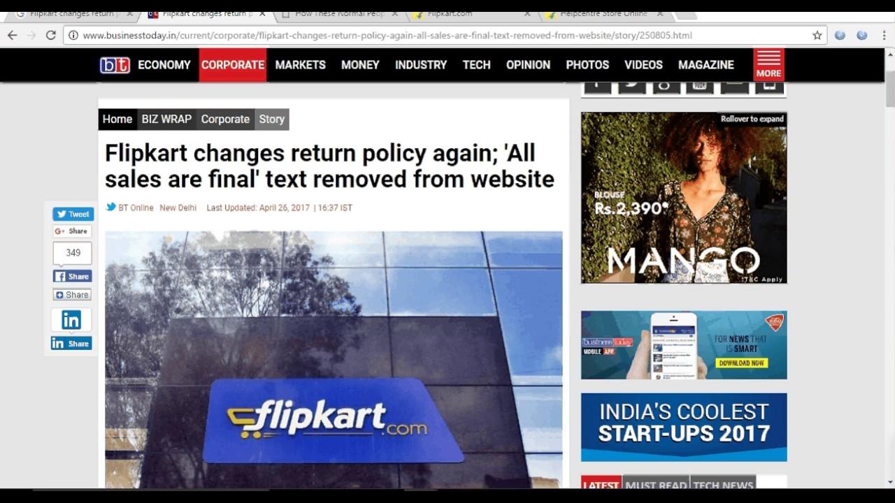 Flipkart changes return policy again