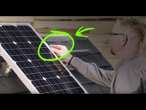 How to install solar panels yourself on your roof. (It's eas