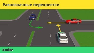 ПДД 2018. Нерегулируемые перекрестки равнозначных дорог