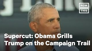 Obama Rips Trump During His Return to Campaign Trail | NowThis