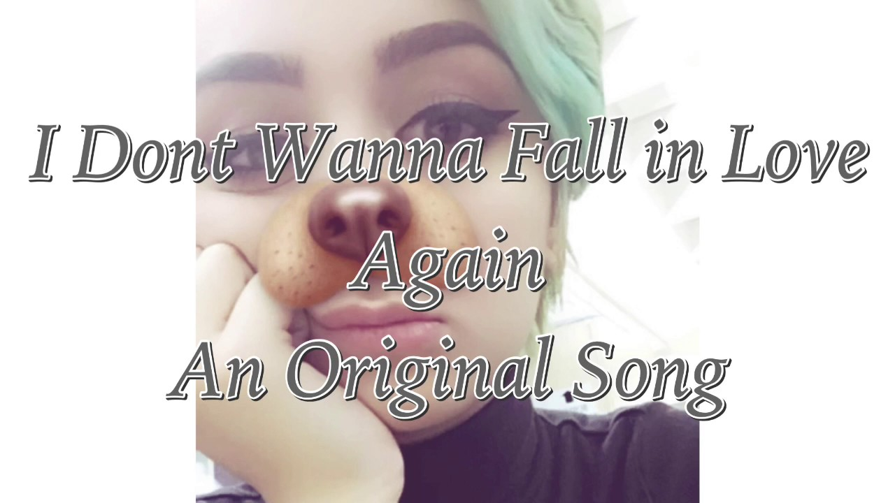 I wanna fall in love again song